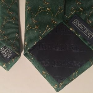 Lands' End Accessories - Lands End green reindeer Rudolph Christmas tie